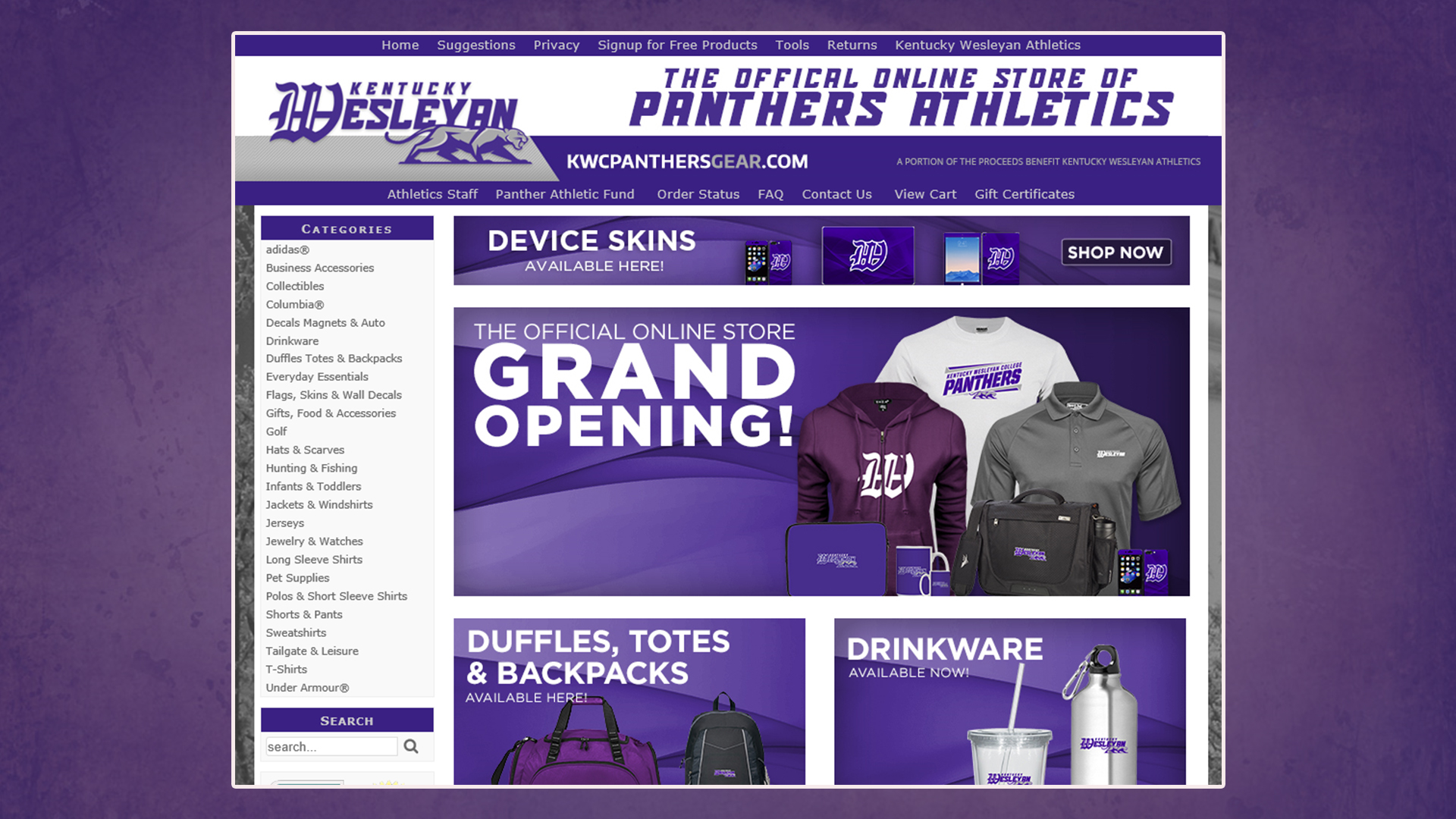 ca2e26f20 Kentucky Wesleyan Launches New Online Store with Advanced Online ...